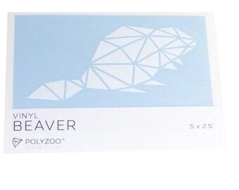 White Vinyl Beaver Sticker