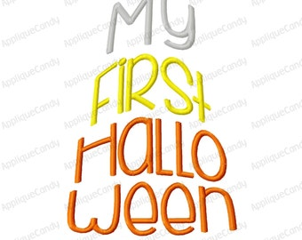 My First Halloween Candy Corn Embroidery Design 4x4 5x7 6x10 1st INSTANT DOWNLOAD