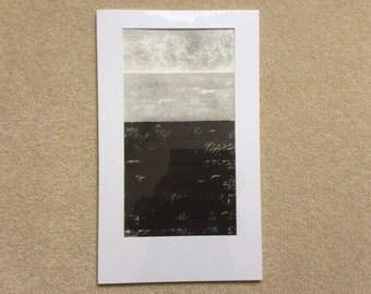 Collograph/Relief Seascape Print