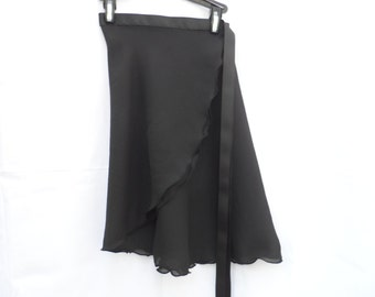 "Adult/ Teen Long 18"" Wrap Skirt, Many Colors, Ballet Skirt, Ballet Wrap Skirt, Dance Skirt, Ice Skating Skirt"