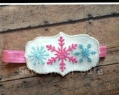 Embroidered Snowflake Headband