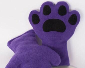 Purple Paws, Fleece, Claws, Accessory