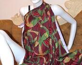 Ankara Chiffon African Print Fabric / Silk Classic 'Corn-Blue' African Print Hollandais Fabric by The Yard - Available in Chiffon and Silk
