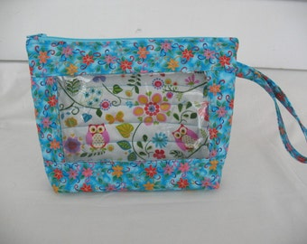Cosmetic Bag-Sewing Bag-Anything Bag with clear vinyl window