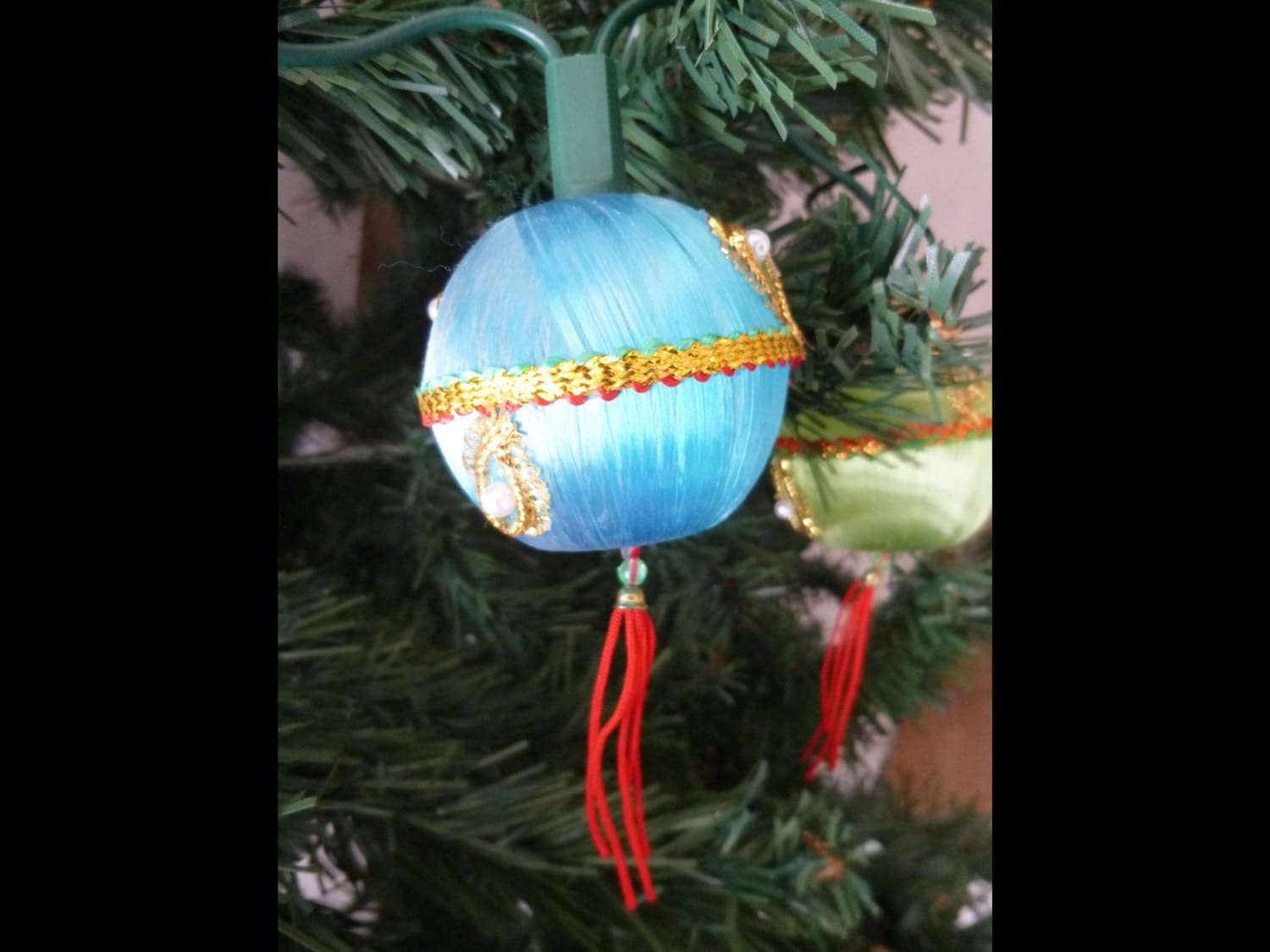 Vintage String Lights Etsy : Vintage Christmas Tree Light String Multi Colored Ornaments