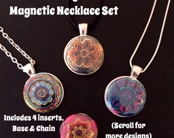Interchangeable MAGNETIC Necklace Set