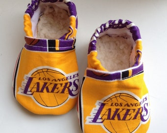 LA Lakers Cloth Baby Booties