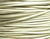0.5mm White Leather Cord - 3 Yards / 9 Feet / 2.74 Meters
