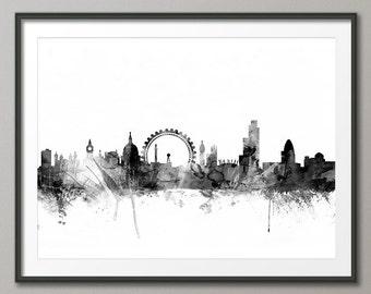 London Skyline, London Cityscape England, Art Print (1441)