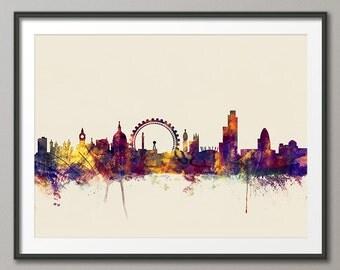 London Skyline, London Cityscape England, Art Print (1615)