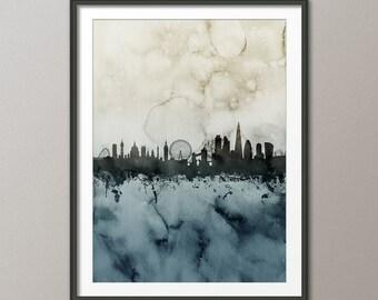 London Skyline, London Cityscape England, Art Print (1701)