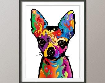 Chihuahua Dog, Pop Art Print (1746)
