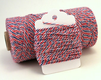 Red White and Blue String - 4th of July Bakers Twine - Patriotic Twine - Airmail Divine Twine - DIY Fourth of July String for Crafts - USA