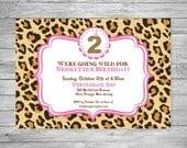 Leopard and Animal Kids Birthday Invitation