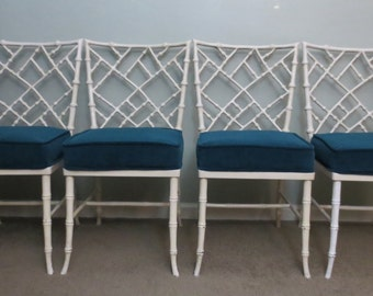 Set of Four Kessler Cast Aluminum Faux Bamboo Chairs/Dining/Sunroom- Local Pick Up Akron, Ohio