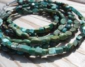 Multistrand Turquoise Necklace, Gemstone Necklace, Natural Turquoise, Statement Necklace, Southwestern Jewelry, Boho Jewelry