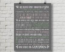 LDS Relief Society Declaration Digital Printable Subway Art Word Art Decoration 11x14 and 8x10 plus bonus INSTANT DOWNLOAD