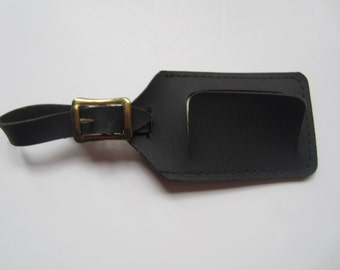Black Vintage Luggage Tag