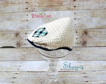 Newborn Hat - Newsboy Hat - Shayne Hat - Photo Prop - Newborn Boy Photo Prop