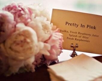 Silver Wedding Place Card Holder, Menu Holder, Table Number Holder, Sign Holder