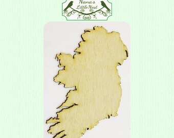Ireland (Small) Wood Cut Out -  Laser Cut