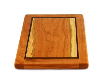 "Natural Wild Cherry Cheese Board - Eco Friendly - Ready to Ship - 15"" x 10"" x 1"""