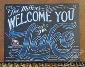 Custom Personalized Welcome to the Lake - Lake sign - lake decor - Customized Welcome to the Lake SIgn