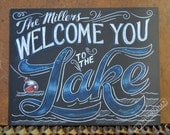 Welcome to the Lake Personalized Sign - Lake sign - lake decor - Customized Welcome to the Lake SIgn