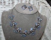 Necklace, Earrings Vintage Demi Parure Barclay Signed