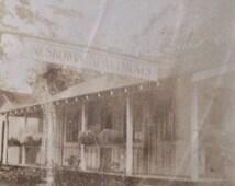 Large Original Antique Photograph Neskowen Apartments