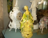 Lovely Vintage Chalk ware/Plaster Marie Antoinette Maiden, Victorian, French