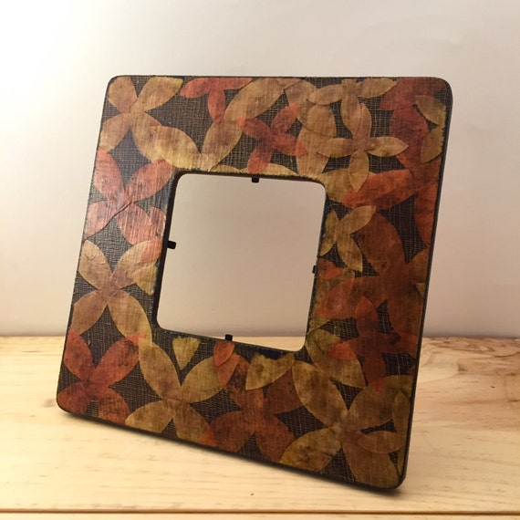 Square picture frame flower paper photo frame vintage for Bungalow style picture frames