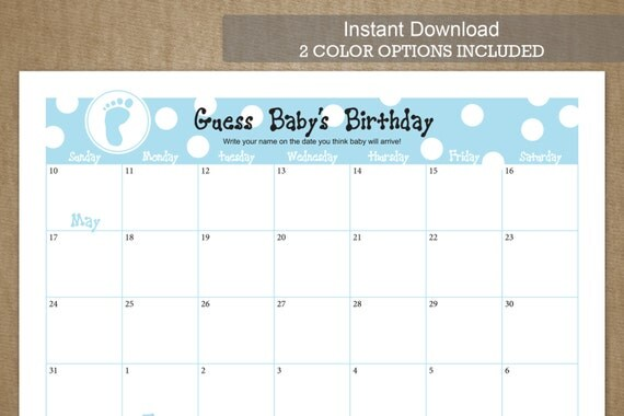 Baby Calendar May : May calendar baby shower template search results