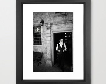 Israel Photography Tzfat, Israel, Judaism,  Jerusalem,  black and white fine art home decor Judaica Jewish Picture