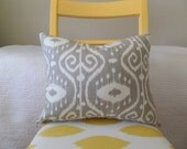 Taupe, Gray, or Tan Ikat Zippered Pillow Cover