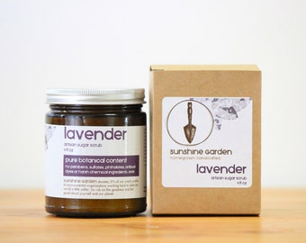 Lavender Organic Sugar Scrub 9oz Glass Jar