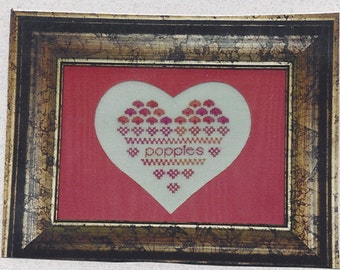 Clearance - Poppies Sampler Heart Series (Mat included) by Forever in My Heart