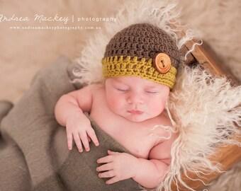 Baby Boys Knit Hat | Baby Beanie | Newborn Boys Hat