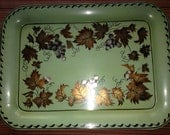 Vintage Signed Arlene Clinkman Marblehead Massachusetts Toleware Tray Folk Art