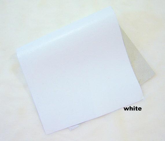white lamb leather piece skin crafts scrapbooking large piece