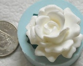 32mm Rose flower silicone mold mould for Sugarcraft, clay, resin, food grade