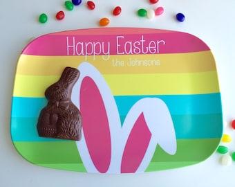 Easter Bunny Personalized Melamine Platter