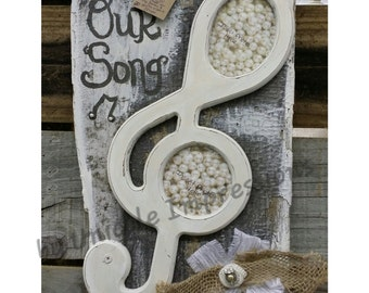 Musical Note Picture Frame reclaimed barn wood