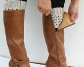 Women's Boot Cuffs, Crochet Leg Warmers, Made to Order