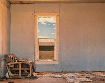 Window Photo Abandoned House Old Chair Rural Washington State