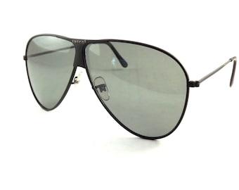 Aviator Sunglasses, Mens Sunglasses, Vintage Metal Tasco Sunglasses, Black Sunglasses, Cool Shades