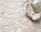 500 Children's Novel Confetti Hearts - Alice In Wonderland / Roald Dahl / The Jungle Book / Harry Potter or Bedknobs and Broomsticks