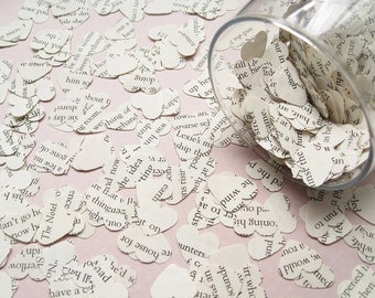 500 Children's Confetti Hearts - Alice In Wonderland / Beauty and The Beast / Roald Dahl / Jungle Book / Harry Potter / Bedknobs Broomsticks