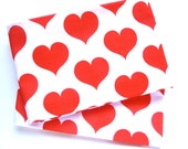 Vintage red heart print pillowslips