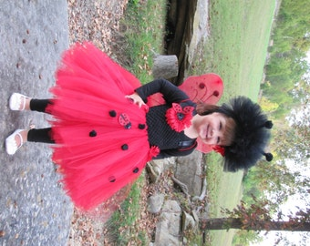 Lady Bug costume, Lady Bug, Lady bug Tutu, Lady Bug Tutu Dress, Tutu Costume
